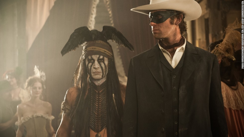 """The Lone Ranger"" is nominated for worst picture and worst actor (Johnny Depp, left, with Armie Hammer), among others."