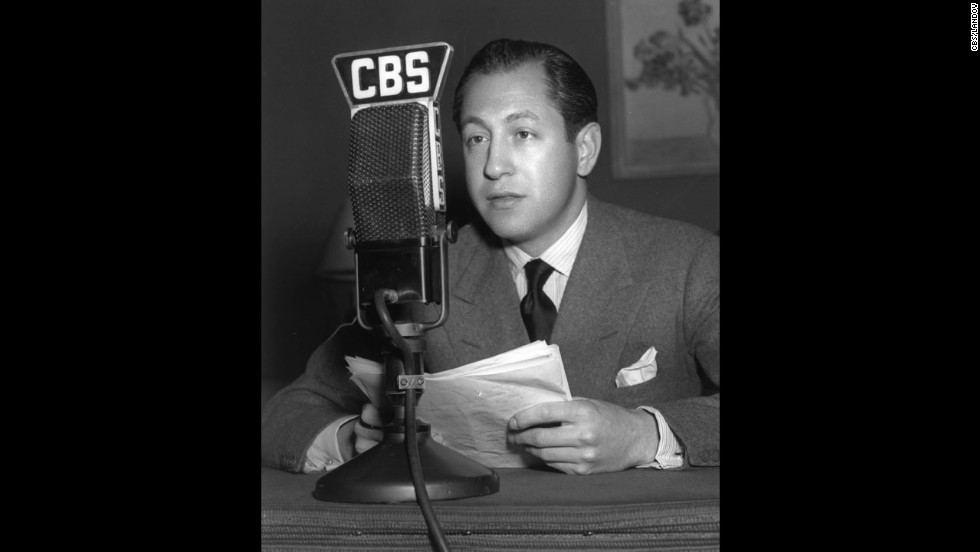 William S. Paley, shown here in 1937, founded CBS in 1927.