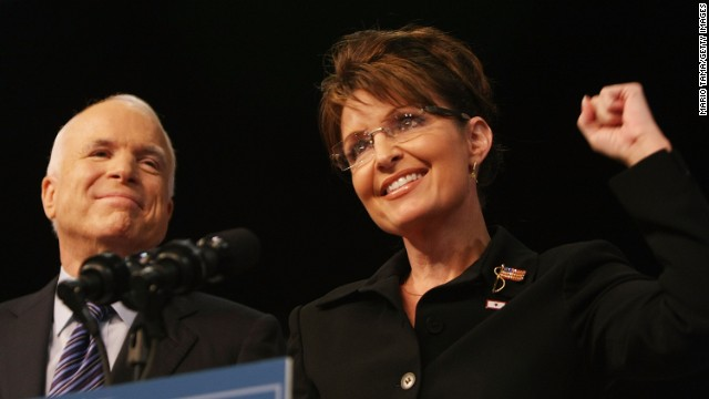 McCain and Palin on the presidential campaign trail in 2008.