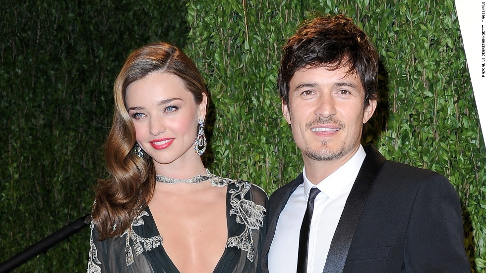"After a six-year relationship, Miranda Kerr and Orlando Bloom announced in October 2013 that they had decided to formally separate. <a href=""http://www.tmz.com/2013/10/25/orlando-bloom-miranda-kerr-split-break-up-divorce/"" target=""_blank"">TMZ indicated</a> that the pair were planning to divorce. The couple, who share a son, said in a statement that they remain amicable."