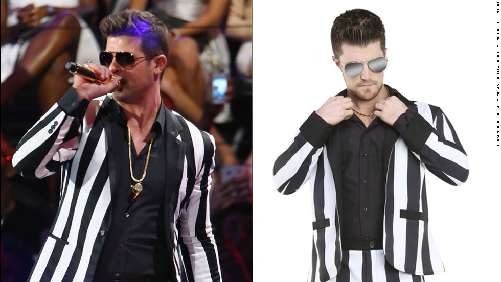 What would a Miley Cyrus look be without the corresponding Robin Thicke look to be twerked on?