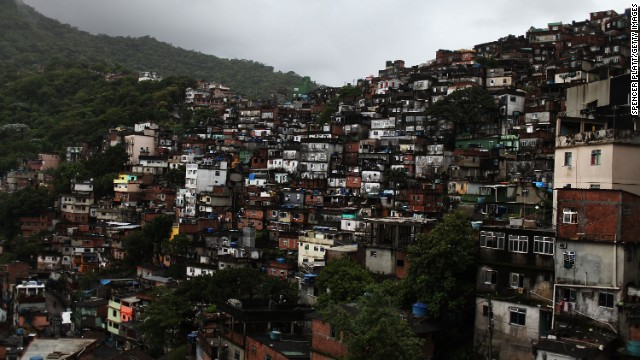 RIO DE JANEIRO, BRAZIL - DECEMBER 05:  A view of the Rocinha slum, or favela, the largest favela in Brazil with an estimated 60,000 to 150,000 people December 5, 2009 in Rio de Janeiro, Brazil. It is estimated that there are over 1,000 favelas in Rio where violent crime is rampant. The police are attempting a softer touch in many favelas by participating in community policing after they clear the area of drug gangs. It is believed that the police want to continue with these programs citywide ahead of the 2016 Olympic Games. As Brazil prepares to host the 2016 Summer Olympics international scrutiny is falling on Rio de Janeiro`s favelas where over 5,000 people were murdered  last year alone. In the last week violence in tourist areas has increased as drug gangs are increasingly reacting to an increased police presence in the favelas. In figures released Tuesday by the IBGE (Instituto Brasileiro de Geografia e Estatística) statistics agency it was found that an average of 68 young Brazilian men died violently each day between 1998 and 2008. These numbers included murder, traffic accidents and gang violence involving the police.  (Photo by Spencer Platt/Getty Images)