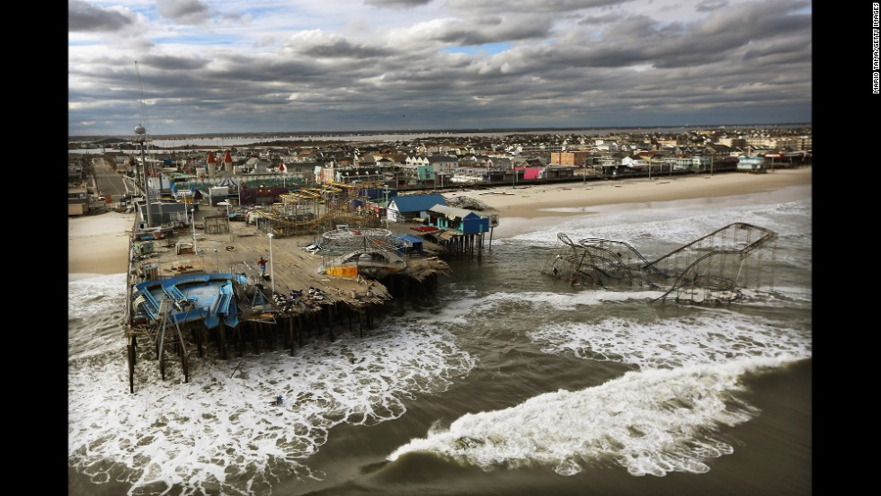 The boardwalk and amusement park in Seaside Heights, New Jersey, were destroyed by Superstorm Sandy on October 31, 2012. Click through to see how some of the places hit hard by Sandy have changed over the past year.