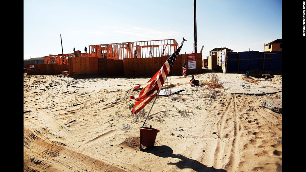 New homes are under construction in Breezy Point on October 23.