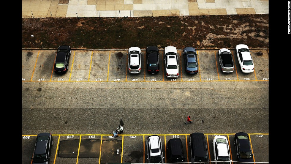 Cars are neatly parked in Rockaway on October 20.