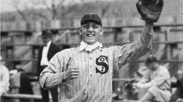 Chicago White Sox third baseman Buck Weaver was among the players banned for life from baseball for knowing about but not reporting the fixing of the 1919 World Series, although he did not participate or take money.