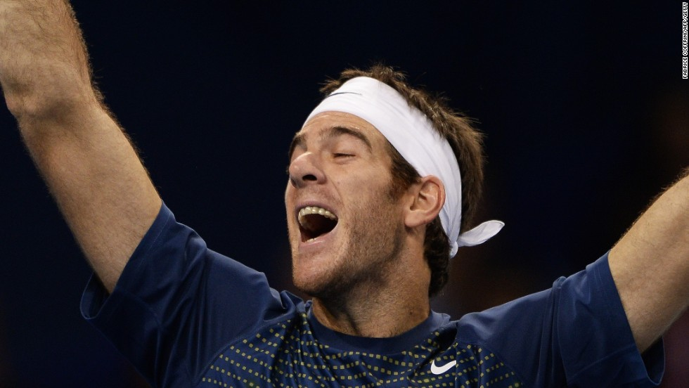Argentina's Juan Martin Del Potro was beaten in the first London final in 2009 by Russia's Nikolay Davydenko.