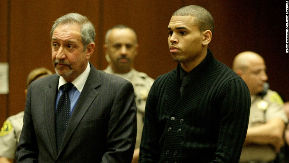 "<strong>March 2009:</strong> <a href=""http://www.cnn.com/2009/SHOWBIZ/Music/02/15/chris.brown/index.html"">Brown apologized a week after his arrest.</a> ""Words cannot begin to express how sorry and saddened I am over what transpired,"" he said. ""I am seeking the counseling of my pastor, my mother and other loved ones and I am committed, with God's help, to emerging a better person."" He was formally charged with felony counts of assault and making criminal threats that March 5."
