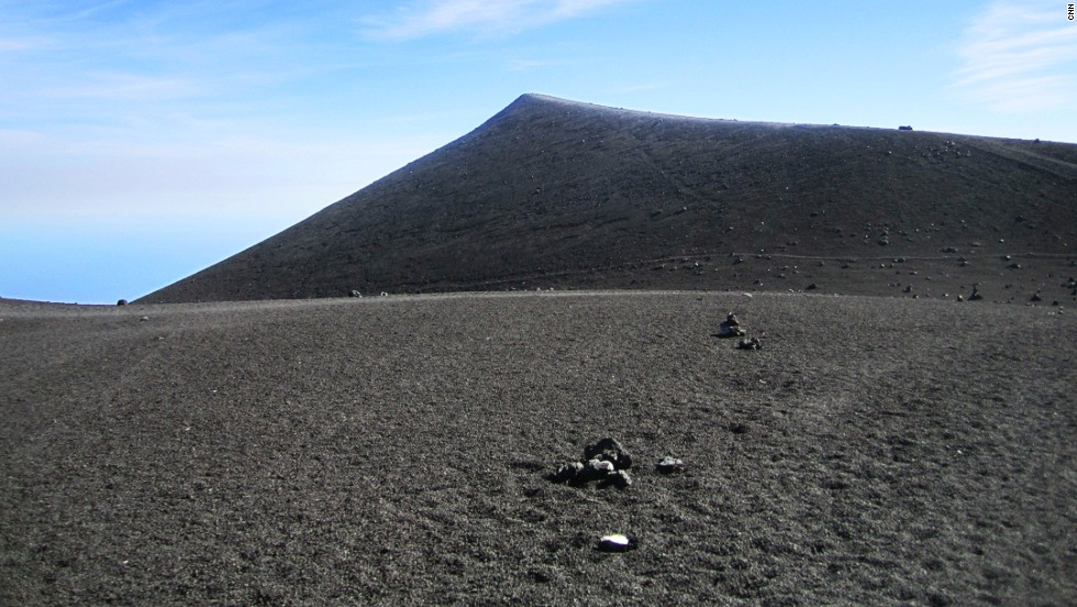 The surface of the volcano is stark, barren ... and stunning.