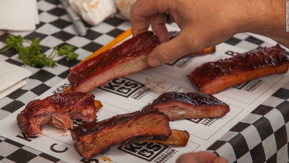 For 25 years, barbecue enthusiasts and pitmasters have converged in Lynchburg, Tennessee, for the annual Jack Daniel's World Championship Invitational Barbecue. There are cash prizes at stake, and some pretty serious bragging rights. Ribs, like the ones pictured, are a mandatory category.