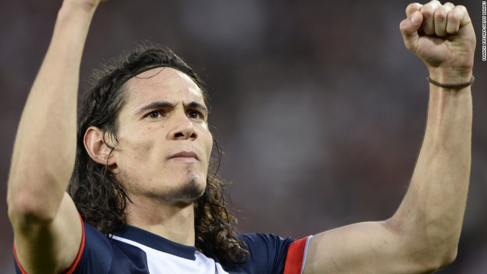 The tax rate would inhibit the ability of PSG and other French clubs to attract star players like Ibrahimovic and the pictured Edinson Cavani, who left Napoli to join the Parisian team in July.