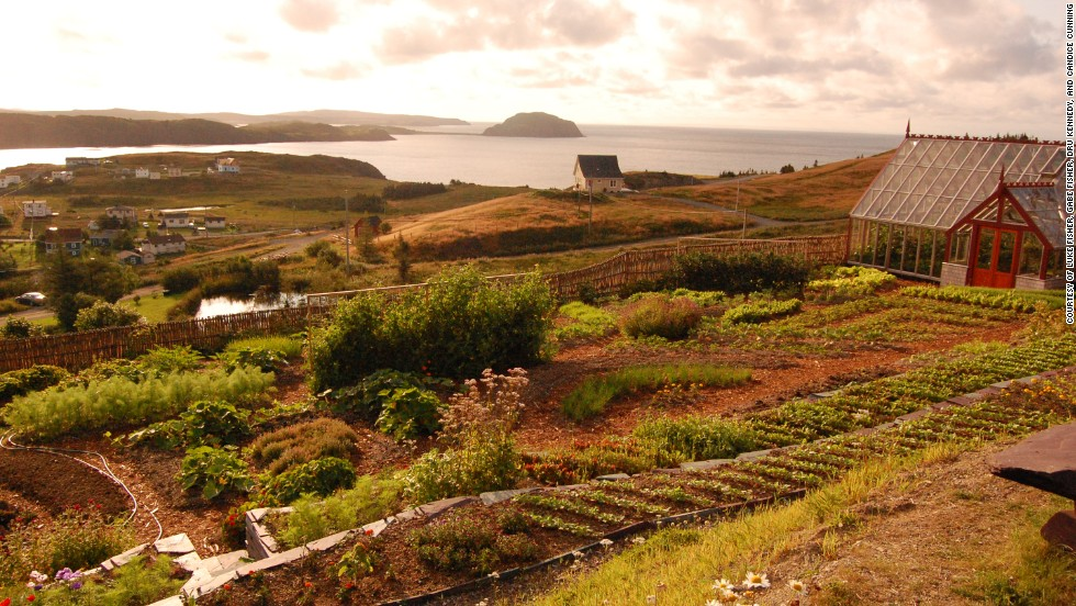 Fisher's Loft in Newfoundland, Canada, gathers ingredients from the inn's greenhouse and gardens for some of its meals.