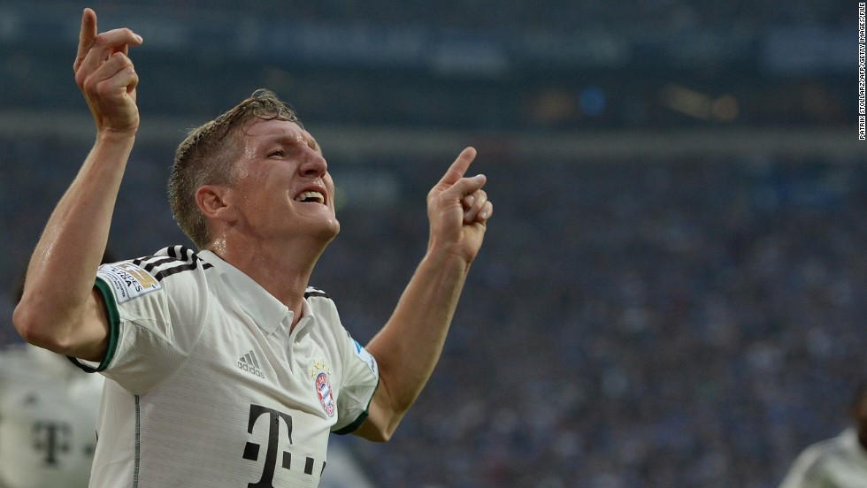 <strong>Bastian Schweinsteiger</strong> (Bayern Munich & Germany) <strong><br />CNN rating: </strong>Longshot <br />Bastian Schweinsteiger has long been a rock at the base of the Bayern midfield, but the playmaker looks likely to be outshone by his attacking teammates.