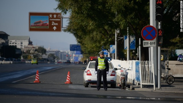 Police seek answers in Tiananmen crash