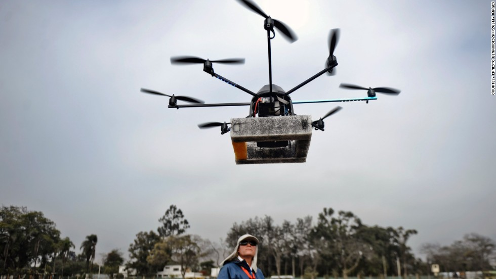 In Peru, archeologist are using drones to map archeological sites and protect them from vandals and squatters.