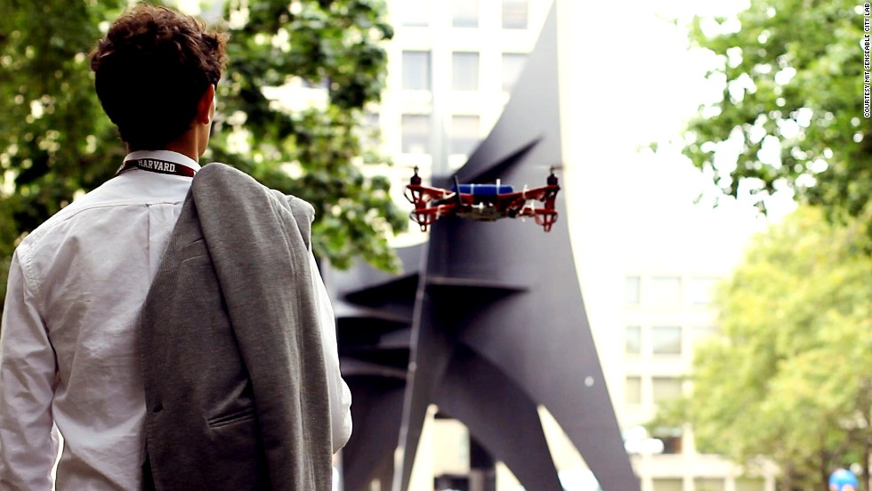 "Drones turn campus guide at -- where else -- MIT. Skycall is a prototype to help <a href=""http://www.harvard.edu/"" target=""_blank"">Harvard</a> students navigate around MIT's infamously convoluted landscape. It was developed by an <a href=""http://hst.mit.edu/"" target=""_blank"">MIT</a> research group called <a href=""http://senseable.mit.edu/skycall/"" target=""_blank"">Senseable City Lab</a>."