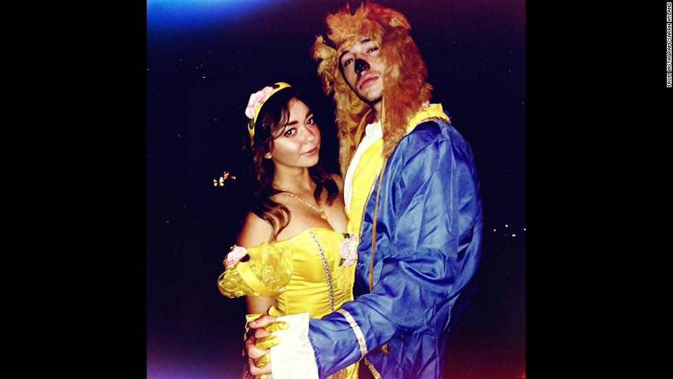 """Modern Family's"" Sarah Hyland settled on a ""tale as old as time"" for one of her 2013 Halloween costumes. ""Walking Dead"" fans will definitely appreciate <a href=""http://instagram.com/therealsarahhyland"" target=""_blank"">the other one she shared.  </a>"