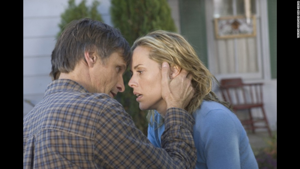 "Viggo Mortensen and Maria Bello are a loving couple who face danger in ""A History of Violence."" But they also don't mind spicing it up with <a href=""http://www.joblo.com/videos/movie-clips/mariobello_historyofviolence"" target=""_blank"">costumes and role play.</a>"