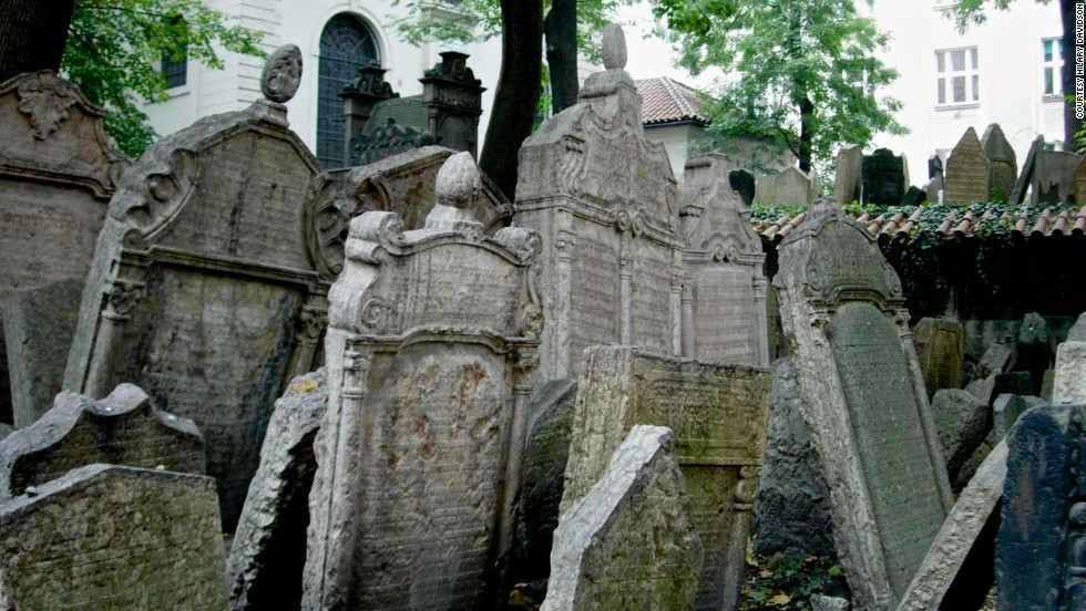 At one time, Prague required that Jews only be buried on a single city block. Now called the Old Jewish Cemetery, the burial ground was used  from the early 15th century until 1787.