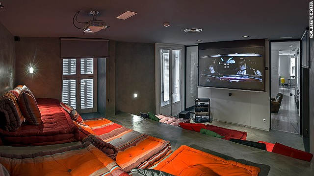 UHostel in Madrid has a private screening room