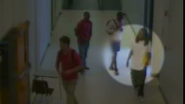 Footage of Kendrick Johnson entering gym