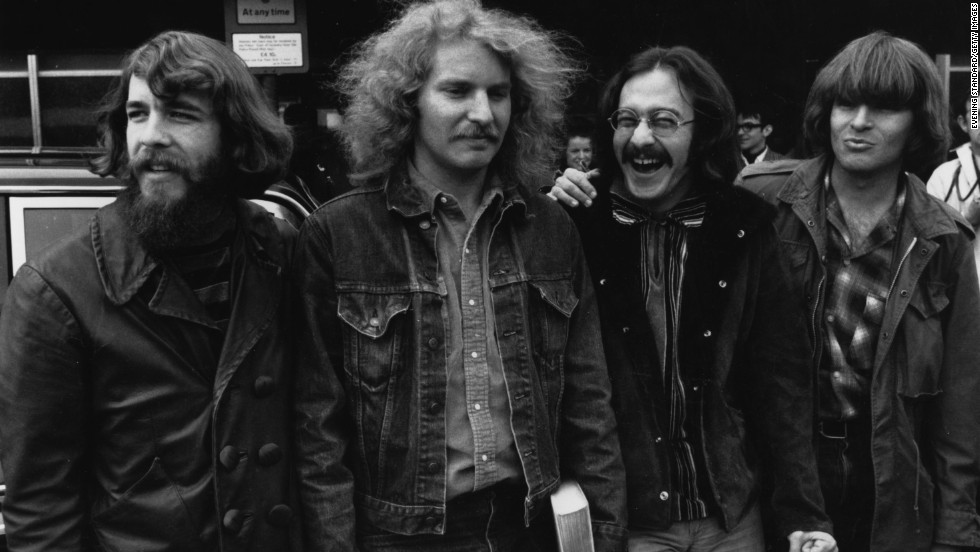 When this photo was taken of iconic rock group Creedence Clearwater Revival -- consisting of, from left, Doug Clifford, Tom Fogerty, Stu Cook and John Fogerty -- in April 1970, the band was at its peak. But by 1971, Tom would leave his brother John, reportedly over issues of creative control, and CCR disbanded in 1972.