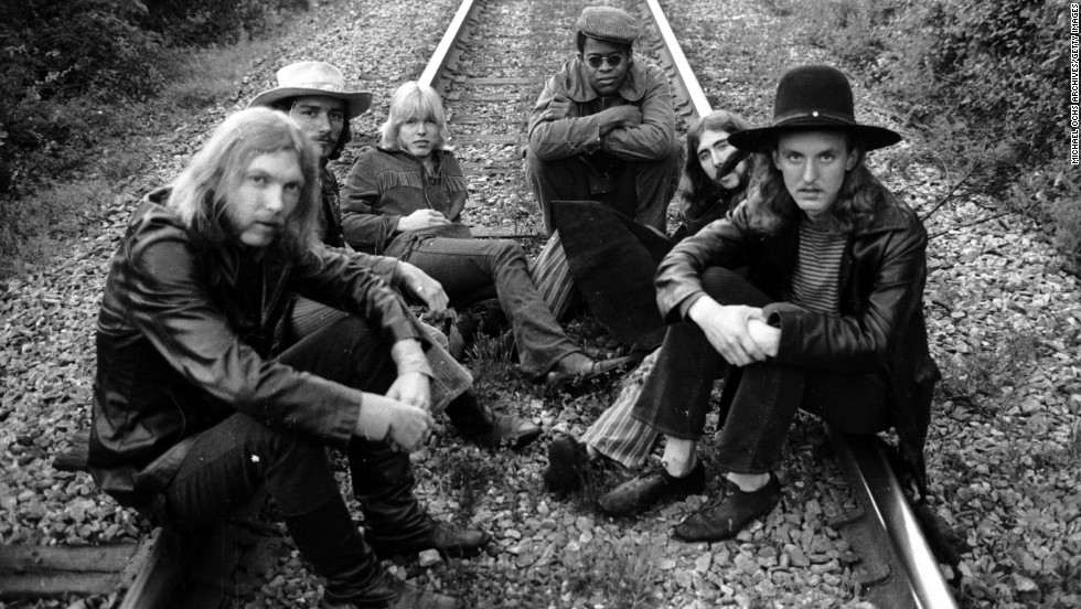 Cemented by brothers Duane and Gregg Allman, The Allman Brothers Band is iconic for both its live jam sessions and its lingering impact on rock 'n' roll.  The soulful Southern group -- made up of, from left, Duane, Dickey Betts, Gregg, Jai Johanny Johanson, Berry Oakley and Butch Trucks -- released a debut album in 1969 and quickly established a reputation as one of the best. By 1971, the group suffered a devastating blow, when founding Allman brother Duane died in a motorcycle accident.