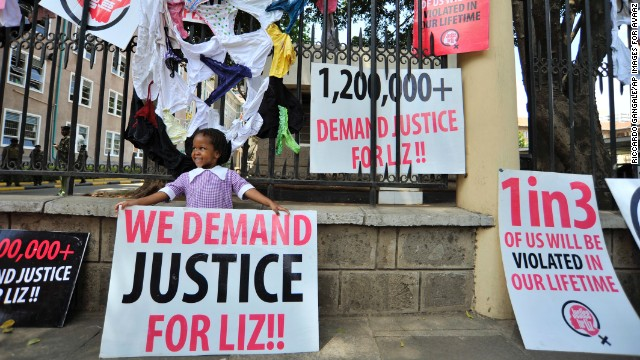 IMAGE DISTRIBUTED FOR AVAAZ - Members of civil society and gender organizations march in the streets of Nairobi to protest against a rape case unpunished by police on Thursday, Oct. 31, 2013, A petition to prosecute the alleged rapists of the 'Liz case' with more than 1.2 million signatures was delivered to the Chief of Police. (Riccardo Gangale/AP Images for Avaaz)