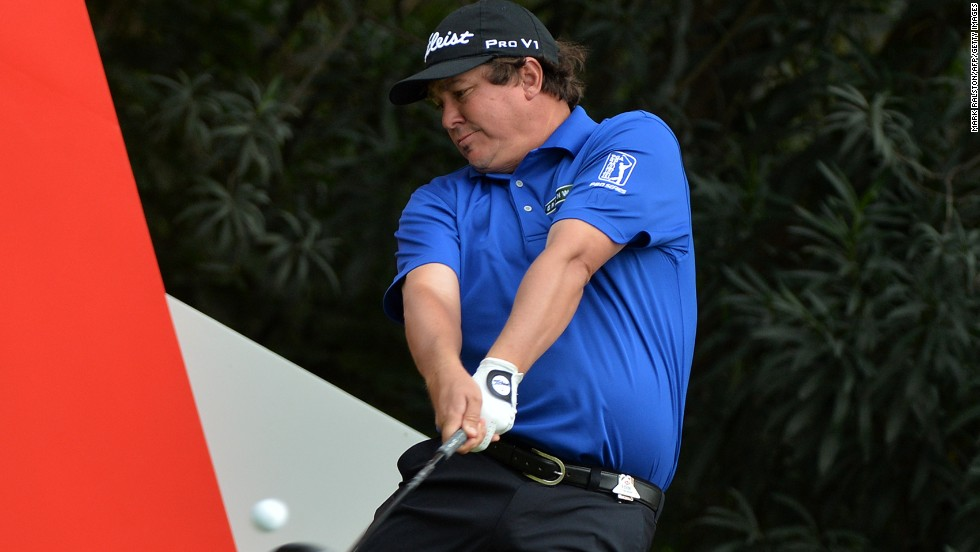 PGA Championship winner Jason Dufner had a mixed day. He hit an eagle on the 10th but also a double bogey and four bogeys.