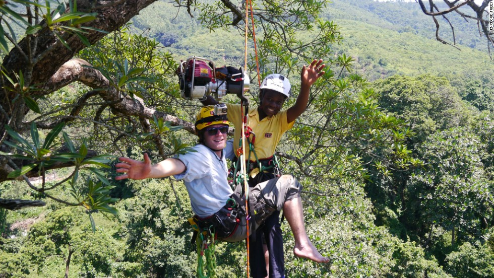 As part of its educational focus, the group also gave school children the chance to experience the thrill of climbing South Africa's magnificent trees.