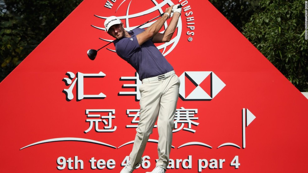 Johnson hit the ball long and true with an immaculate display of driving in the second round in China.
