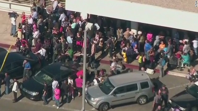 Travelers were evacuated from terminals at LAX on Friday morning.