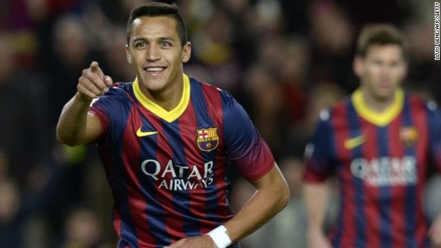 Alexis Sanchez grabbed the crucial goal in Barcelona's 1-0 derby win over Espanyol.