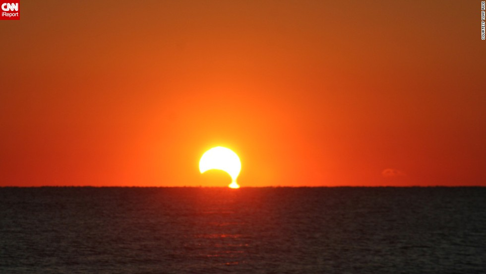 "<a href=""http://rtphokie.smugmug.com/"" target=""_blank"">Tony Rice </a>photographed the eclipse, which he described as a dripping sun, from Myrtle, South Carolina."