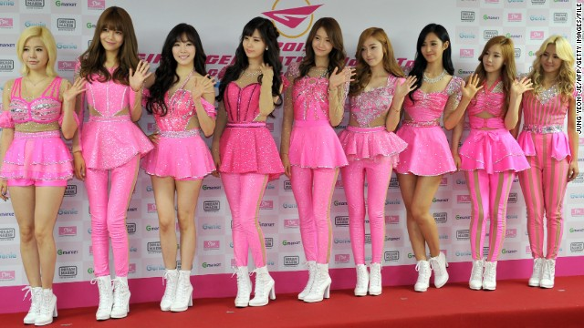 South Korean K-pop band Girls' Generation has nine members and an inclination towards pink.