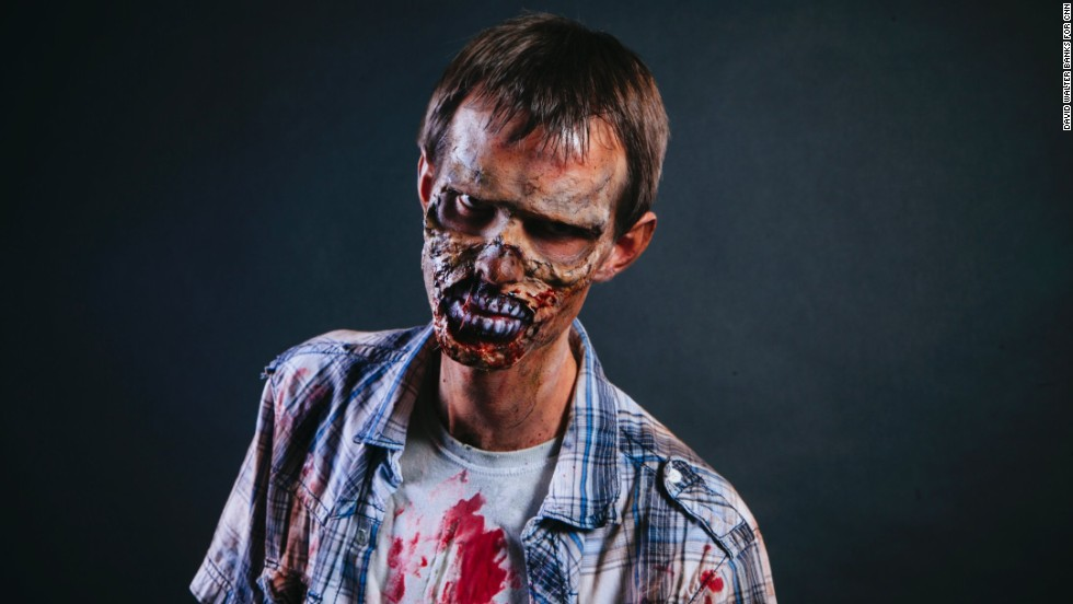 Mitchell Williams, from Duluth, Georgia, poses in zombie dress.