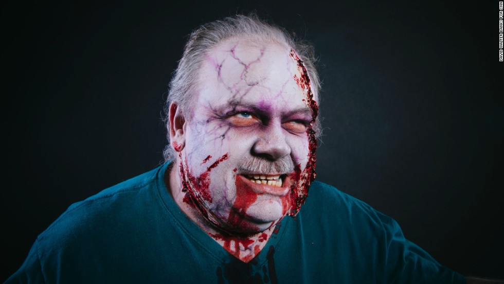 Lewis Christmas, from Madison, Florida, dressed as a zombie.