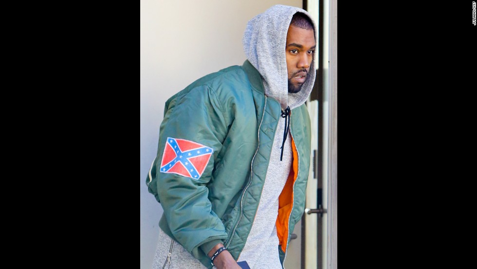 "Almost everything that Kanye West says can be met with a debate, and that includes his comment in November 2013 about his use of the<a href=""http://www.cnn.com/2013/11/04/us/kanye-west-confederate-flag/index.html"" target=""_blank""> Confederate flag on some of his new merchandise</a>. The rapper told Los Angeles radio station <a href=""http://amp.cbslocal.com/kanye-west-drops-by-97-1-amp-radio/"" target=""_blank"">97.1 AMP</a> that observers can ""react how you want. Any energy is good energy. You know the Confederate flag represented slavery in a way -- that's my abstract take on what I know about it. So I made the song 'New Slaves.' So I took the Confederate flag and made it my flag. It's my flag. Now what are you going to do?"""