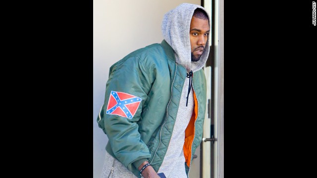 Kanye steps out in Confederate jacket