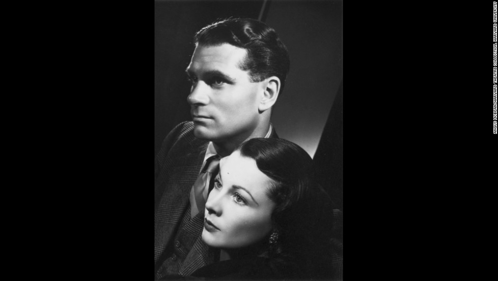 "This McBean portrait of Leigh and husband Laurence Olivier was taken to promote the couple's 1948 stage tour of Australia and New Zealand. The tour ""was a big success and helped make them a legend in their own time,"" Bean said.<br /><em>Image courtesy of ""Vivien Leigh: An Intimate Portrait"" (Running Press)</em>"