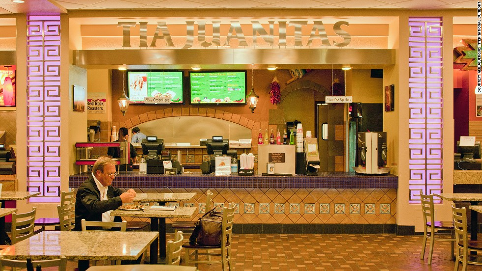 Decide if you love red or green chili better at Tia Juanita's, an Albuquerque airport institution. It recently changed names from La Hacienda Express but is still the same restaurant.