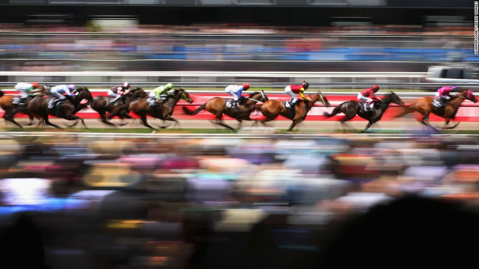 "NOVEMBER 05 - MELBOURNE, AUSTRALIA: First run in 1861, Australia's $6 million Melbourne Cup is known as <a href=""http://travel.cnn.com/novice-guide-melbourne-cup-091326"">""the race that stops a nation."" </a>The 2013 contest was <a href=""http://www.cnn.com/2013/11/05/sport/melbourne-cup-fiorente-gai-waterhouse-horse-racing/index.html"">won by the favorite, Fiorente</a>, ridden by Damien Oliver. More than 350,000 people attend the event, with hundreds of racegoers taking part in the <a href=""http://www.cnn.com/2012/11/01/sport/jean-shrimpton-melbourne-cup-fashion/"">""Fashions on the Field"" competition</a>."