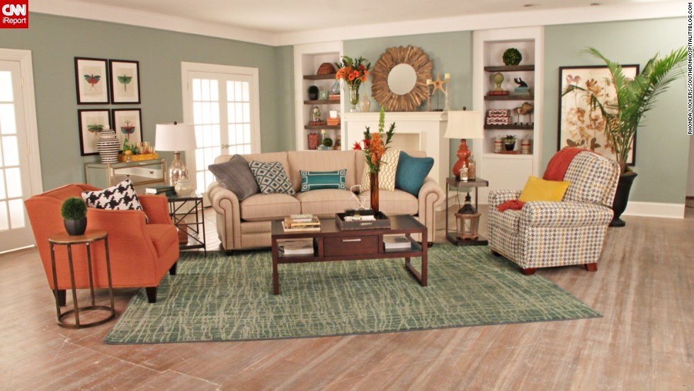 lifestyle blogger rhoda vickers of atlanta used a spectrum of orange