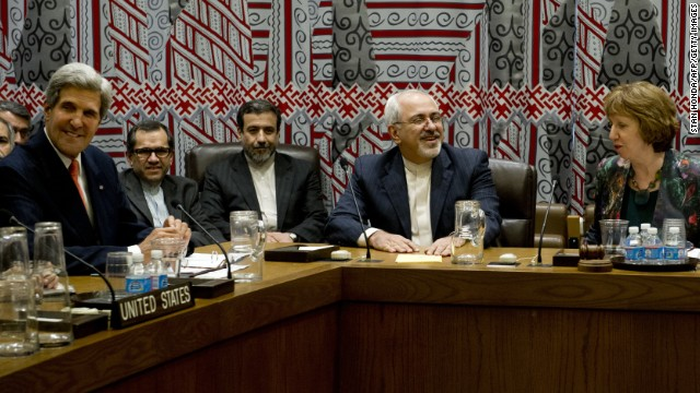 September talks included Secretary of State John Kerry, left, and Iran's Foreign Minister Mohammad Zarif, second from right.