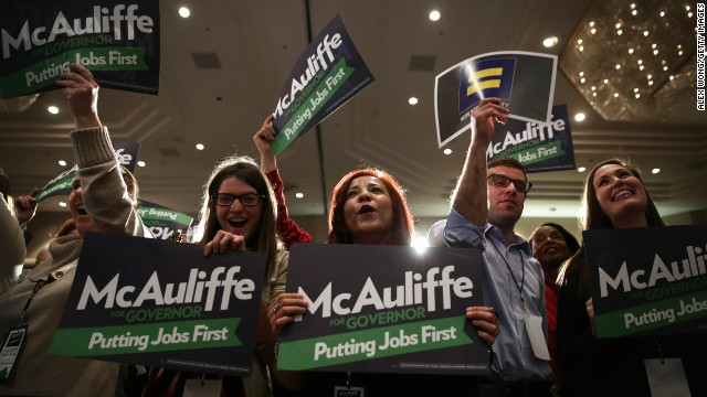 Terry McAuliffe wins in Virginia