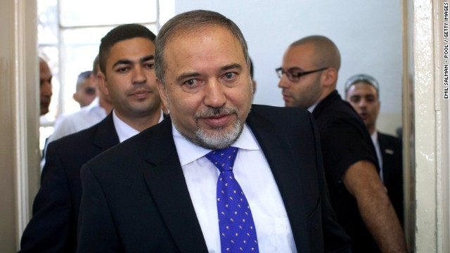 Former Israeli Foreign Minister Avigdor Lieberman appears at Jerusalem Magistrates Court on Wednesday.