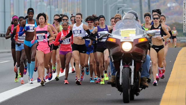 The start of the ING New York City Marathon on November 3, 2013 in the Brooklyn borough of New York City.