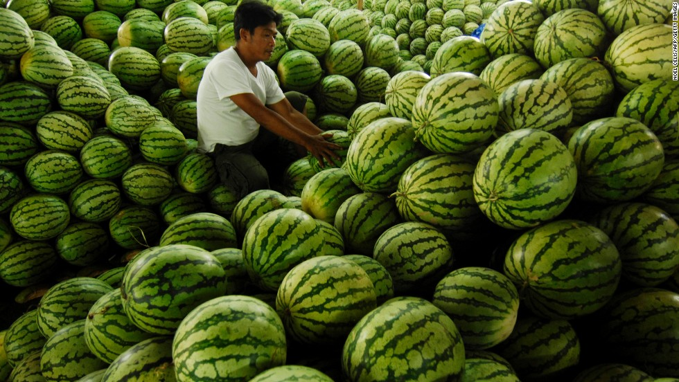 "<strong>Watermelon</strong><br />Water content: 91.5%<br /><br />It's fairly obvious that watermelon is full of, well, water, but this juicy melon is also among the richest sources of lycopene, a cancer-fighting antioxidant found in red fruits and vegetables. In fact, watermelon contains more lycopene than raw tomatoes—about 12 milligrams per wedge, versus 3 milligrams per medium-sized tomato.<br /> <br />Although this melon is plenty hydrating on its own, Gans loves to mix it with water in the summertime. ""Keep a water pitcher in the fridge with watermelon cubes in the bottom,"" she says. ""It's really refreshing, and great incentive to drink more water overall.""<br />"