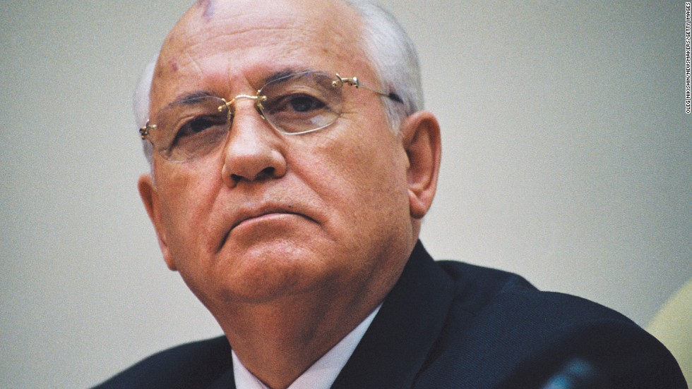 Mikhail Gorbachev at a conference in Moscow in 2001. Gorbachev led the Soviet Union from 1985 until its fall in 1991. He changed the world's expectations of the Soviet Union by striving to make a more efficient and democratic state that participated in global politics.