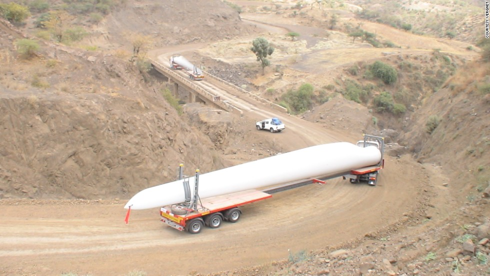 "French company Vergnet built the site in partnership with the Ethiopian government. ""Vergnet machines are ideal for remote areas in Ethiopia and designed for this kind of region because our turbines are easy to transport,"" said chief executive Jerome Douat."